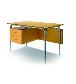 Mesa escolar con 2 cajones+faldon