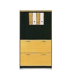 Mueble de oficina mediano doble archivo 148*80*40
