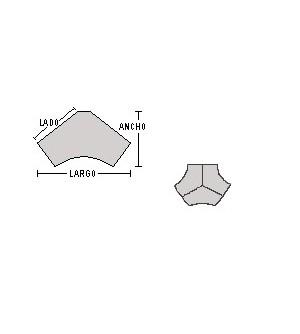 Mesa boomerang 120*208*104*74