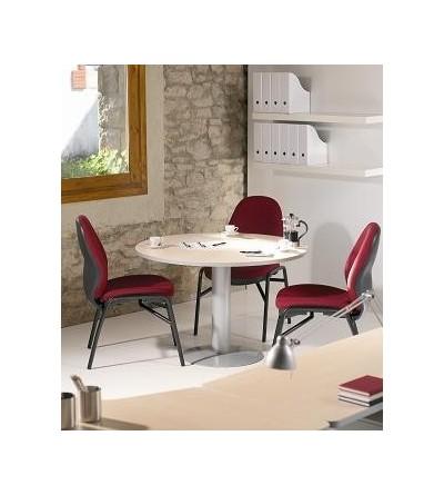 mesa de reunión redonda patola de metal