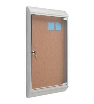 Vitrina de anuncios con puerta - tapizada